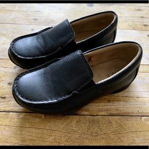 Toddler Boy Black Loafer Dress Shoes